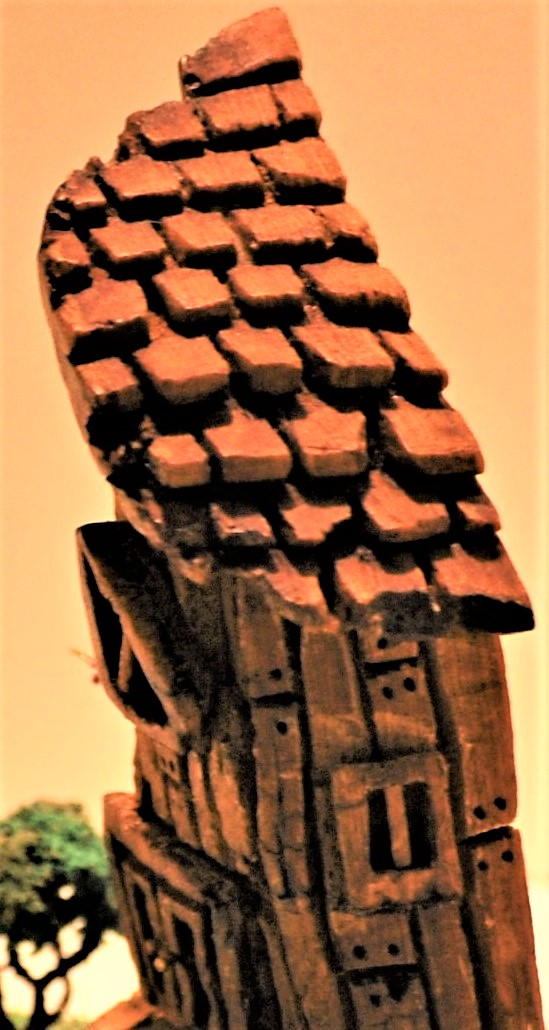 Fairy house, close up of roof