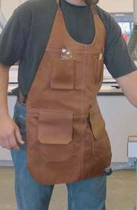 Leather Shop Apron worn