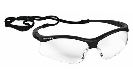 JACKSON SAFETY Glasses, Clear lenses, black frame
