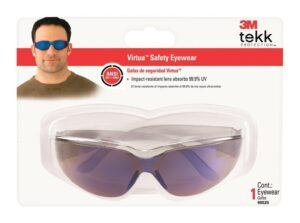 3M blue mirror lens safety glasses