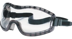 MCR Stryker black fram Safety Goggles with clear lenses