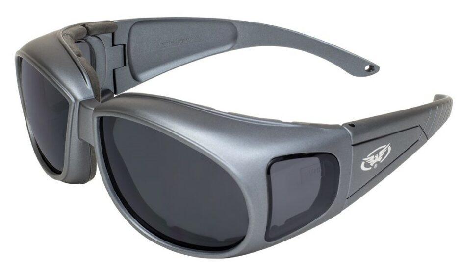 Black matt motorcycle style safety glasses
