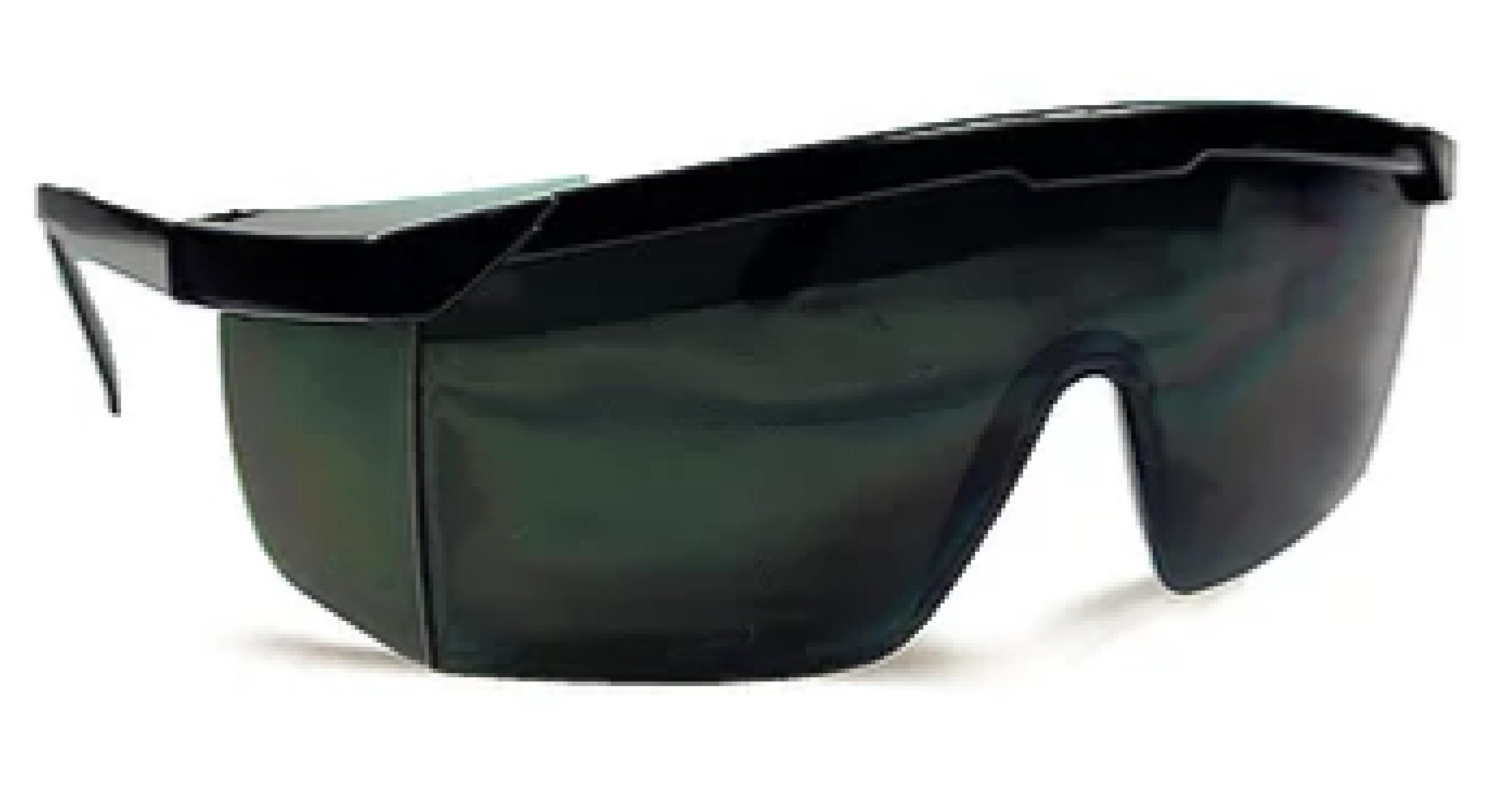 Frameless black safety mono lens goggles