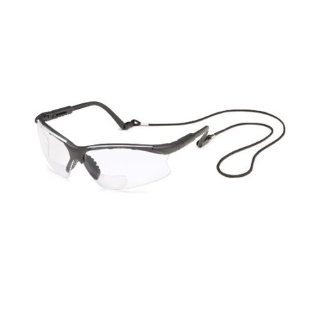 Gateway Safety 16MC30 Scorpion MAG Safety Glasses, 3.0 Diopter Magnification, Clear Lens, Black Frame
