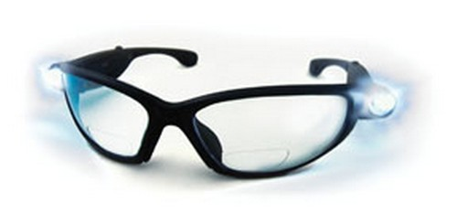 Sas lighted safety glass readers with 1.5 magnification