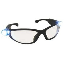 LED reader safety glasses with lights & 3.0 magnification